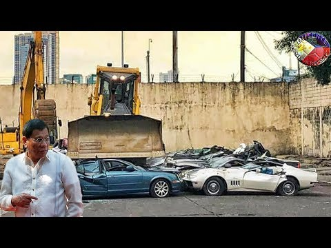 DUTERTE LATEST NEWS FEBRUARY 06 2018 | WITNESS CONDEMNATION OF SMUGGLED LUXURY VEHICLES DESTROYED