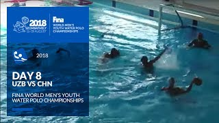 LIVE 🔴 | Water Polo - Day 8 (UZB - CHN) - 4th FINA World Men's Youth Water Polo Championships
