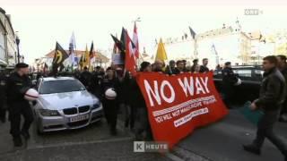 ORF: KÄRNTEN HEUTE Pro-Asyl Demonstration und Identitäre Demo 20.02.2016 / Klagenfurt