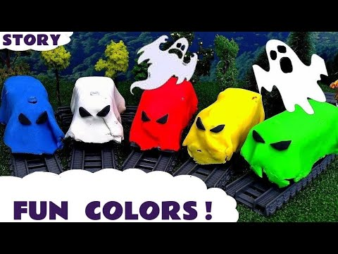 Thumbnail: Learn Colors with Thomas & Friends spooky toy trains in Play-doh - Train toys for kids TT4U