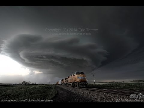 May 19, 2014 Union Pacific Train and Supercell Timelapse