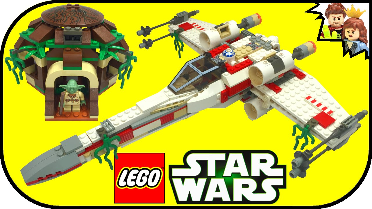 60 second build lego star wars x wing fighter 4502 brickqueen youtube. Black Bedroom Furniture Sets. Home Design Ideas