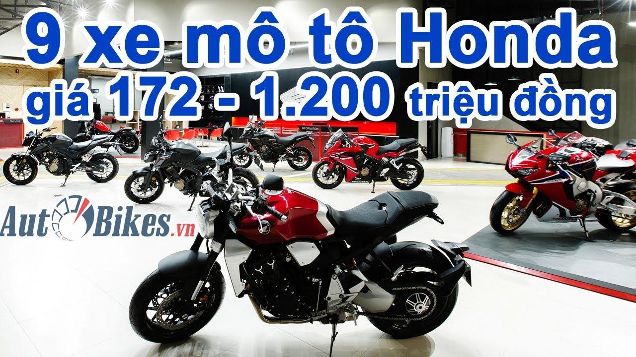 Khám phá dàn mô tô khủng Honda giá từ 172 triệu đến 1,2 tỷ đồng