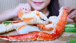 ASMR King Crab Legs (Satisfying chewy Eating Sounds) | LINH-ASMR