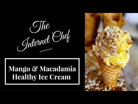 Mango Macadamia Healthy Ice Cream By World Cookbook Award Winner Bridget Davis ⭐⭐⭐⭐⭐