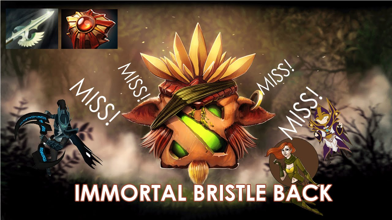 Dota 2 Immortal Items And Player Cards Released: Dota: Immortal Bristleback 100% Evasion