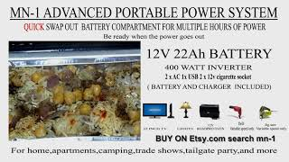 6. ROADPRO OVEN and the MN-1 PORTABLE POWER SYSTEM Cooking  jamaican Jerk chicken