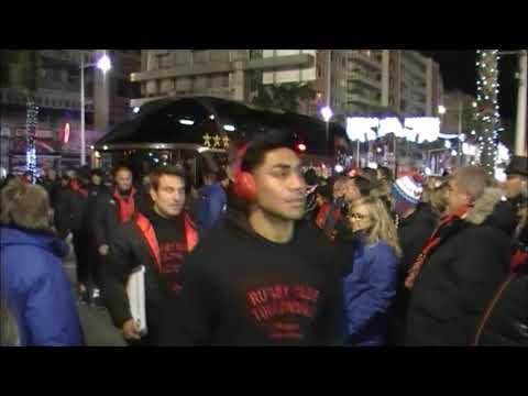 Rugby Top14 RCT Toulon vs LOU Arrivée du Bus Avenue des Légendes Stade Mayol 2017/2018