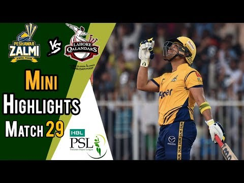 Short Highlights | Peshawar Zalmi Vs lahore Qalandars  | Match 29 | 16 March | HBL PSL 2018