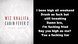 Wiz Khalifa - Smokin Drink ft. Problem (Lyrics)