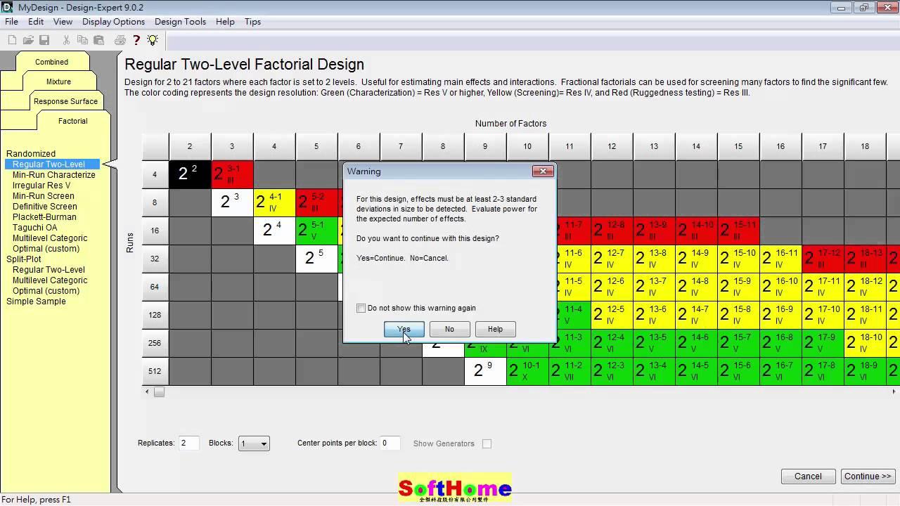 Two Factor Factorial Design