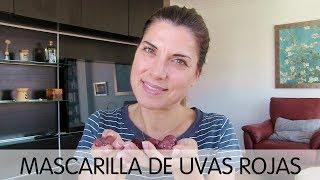 Mascarilla rejuvenecedora de uvas rojas