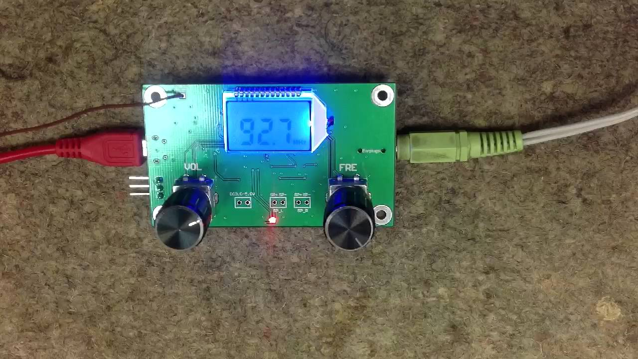 Banggood Dsp Pll Digital Stereo Fm Radio Receiver Module 87 Am Simple Circuit Pc 108mhz With Serial Control Youtube