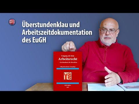 Umgang mit �berstunden - Urteil des Europäischen Gerichtshofes