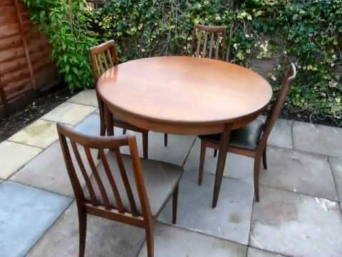 Gplan furniture Extendable Teak Table And Chairs Retro 60s 70s furnitureTube