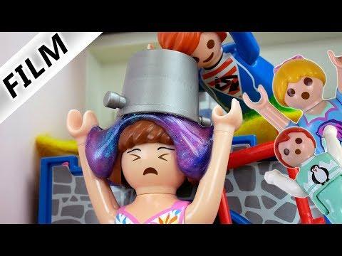 Playmobil Film Deutsch FIESE STREICHE AN BABYSITTERIN! SLIME ÜBER KOPF & POLIZEI PRANK Familie Vogel