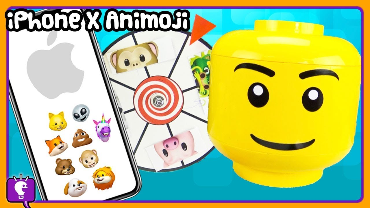 Mystery iPhone X ANIMOJI Character Build with GIANT Play-Doh LEGO by HobbyKidsTV