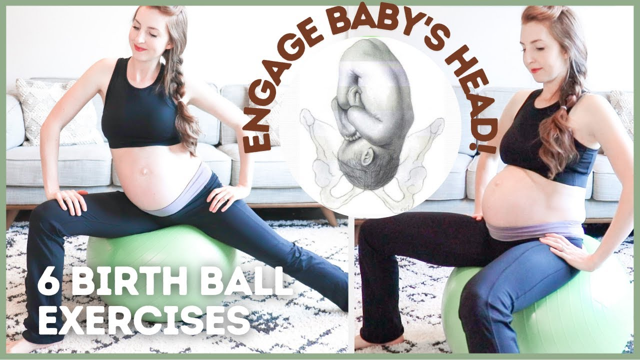 Birthing Ball Exercises To Induce Labor Youtube