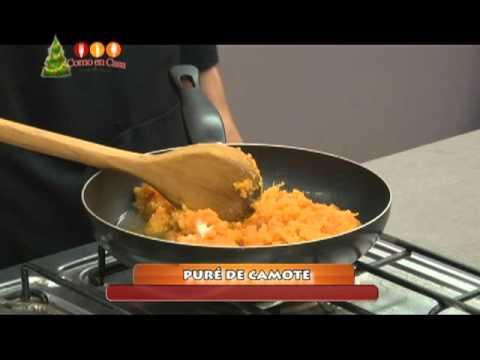 COMO EN CASA PURE DE CAMOTE PREPARACION