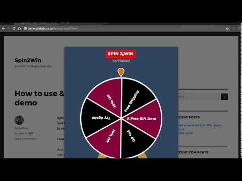 Spin2Win WordPress Plugins For Interactive Email Lead Generation With Sound