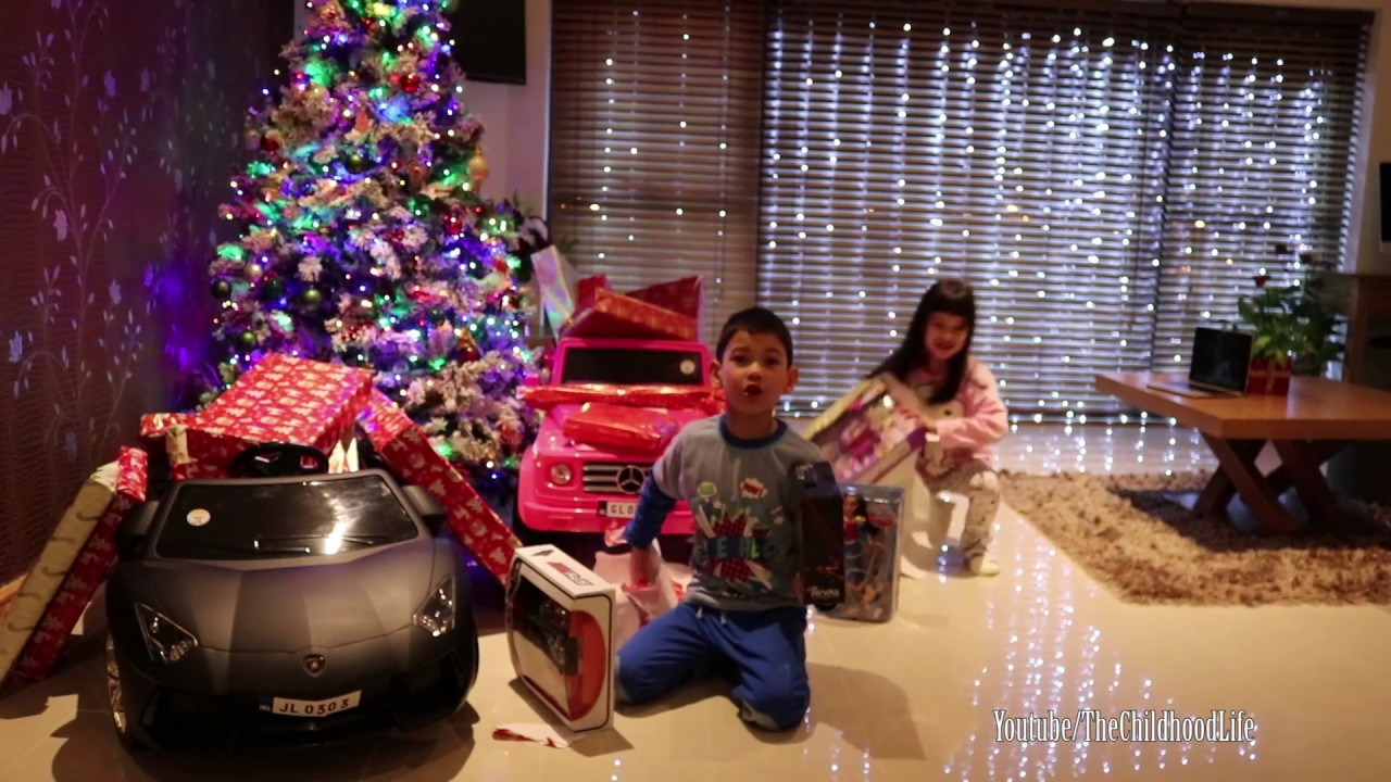 Toys And Me Opening Christmas Presents