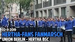Hertha-Fans Fanmarsch | FC Union Berlin - Hertha BSC 2019.11.02 | FCU - BSC 1:0