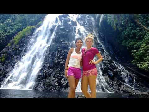 Hike to a Pohnpei Waterfall - Micronesia (With Smiley)