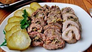 Рулеты из говядины Прованские огурчики  Пошаговый рецепт