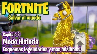 FORTNITE SAVE THE World #3 - LEGENDARY GAMEPLAY SCHEMES IN SPANISH
