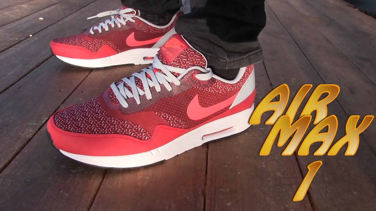 nike air max 1 jacquard red
