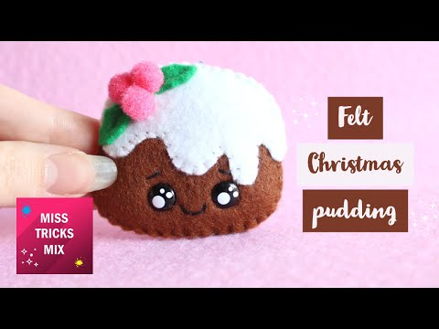 DIY: Christmas Pudding Felt Ornament | Christmas Crafts.