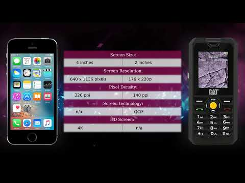 Apple iPhone SE vs CAT B30 - Phone comparison