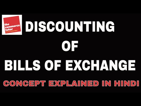 Discounting of Bills of Exchange in Hindi
