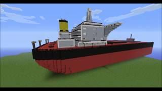 Minecraft cargo ship 1:1 - (bulk carrier) ~Part 1~