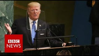 Trump: Rocket man is on a suicide mission - BBC News