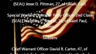 Chinook helicopter crash aug. 6, wardak province afghanistan tribute