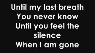 Tarja Turunen - Until My Last Breath (with lyrics)