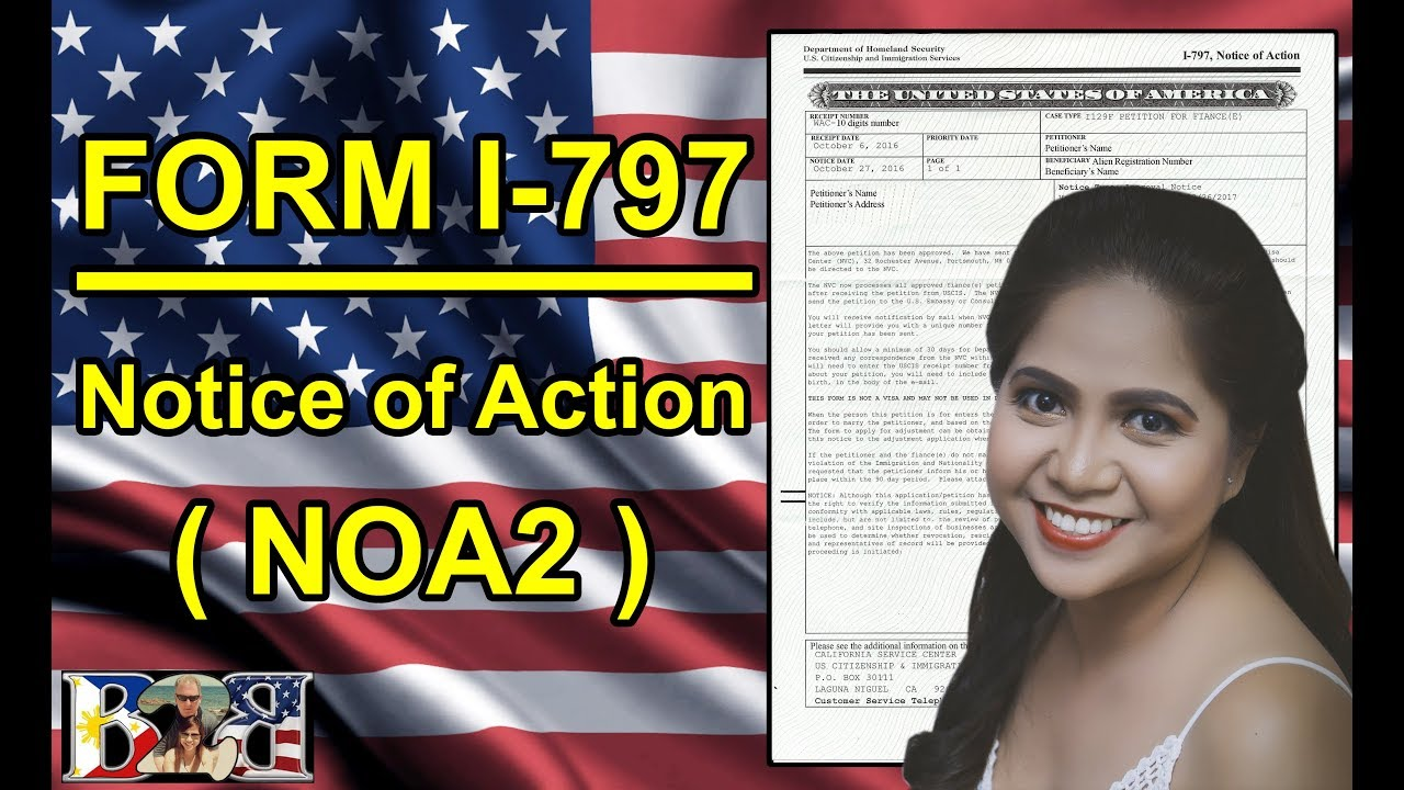 K1 Visa: Form I-797 Approval Notice (NOA2) 2nd Letter from USCIS ...