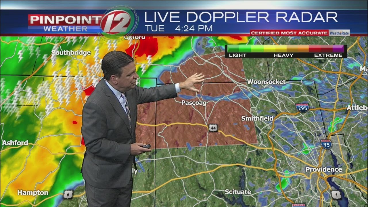 Thunderstorm, flash flood warnings issued for parts of Rhode Island