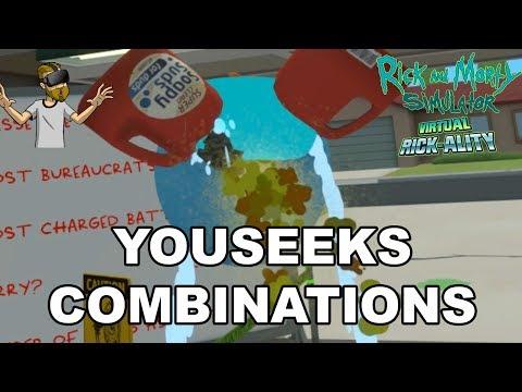 YOUSEEKS COMBINATIONS! | Rick and Morty Simulator: Virtual Rick-Ality