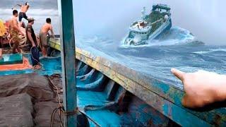 Редчайшие Кадры! Корабли Против Гигантских Волн Шторма