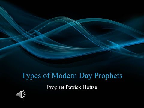 Prophetic Training: Types Of Prophets