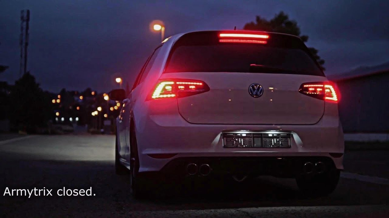 vw golf mk7 r w armytrix cat back valvetronic exhaust by street story garage belgium youtube. Black Bedroom Furniture Sets. Home Design Ideas