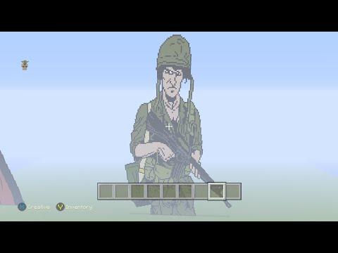 Minecraft Pixel Art Vietnam War U.S. Soldier Part 7