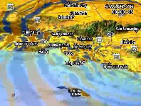 Chino Hills Earthquake Animation