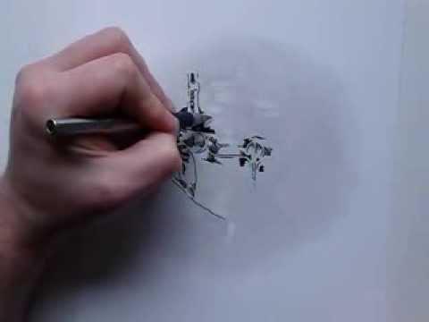 Pencil and Fountain Pen doodle