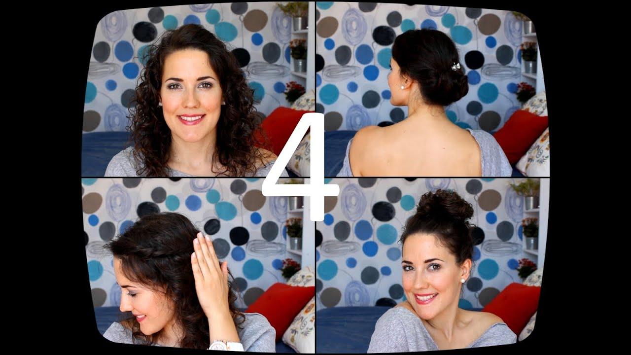 4 peinados faciles para pelo rizado