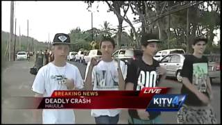 traffic backed up in hauula after deadly crash