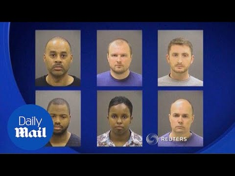 First hearing begins for officers' in Freddie Gray case - Daily Mail