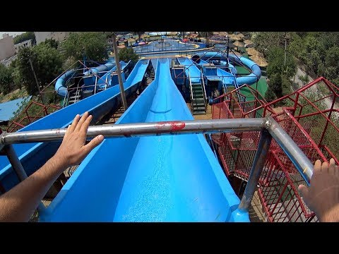 Giant Fun Water Slide at Fun N Food Village